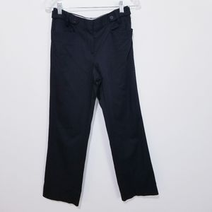 Massimo Dutti Pants Mid rise Black Trousers